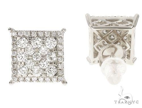 14k WG Diamond Stud Earrings 64828 Stone