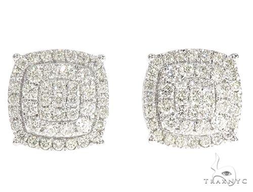 14k WG Diamond Stud Earrings 64831 Stone