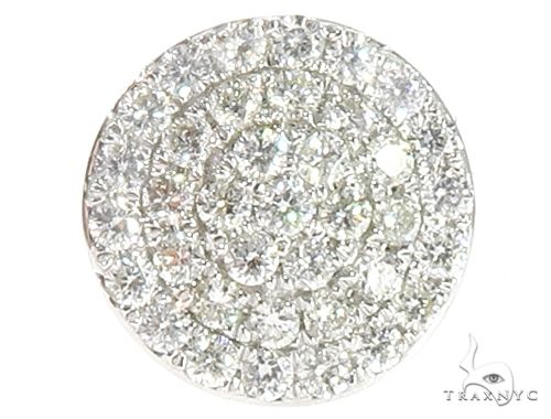 14k WG Diamond Stud Earrings 64834 Stone