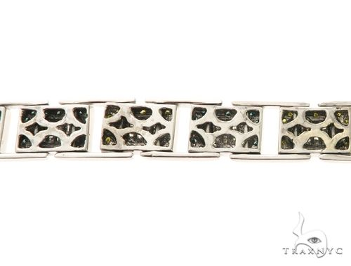 14k White Gold Bracelet 8.5 Inch 17 mm 63752 Diamond