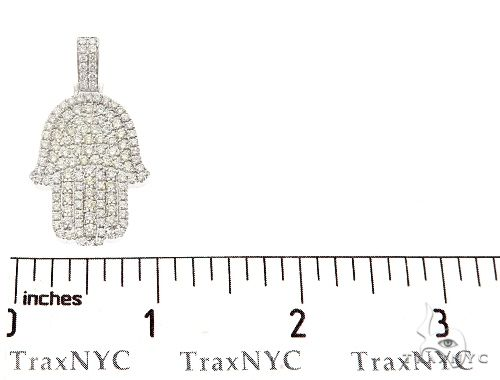 14k White Gold Diamond Hamsa Pendant 64953 Metal