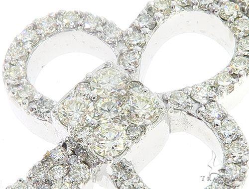 14k White Gold Diamond Key Pendant 64990 Metal