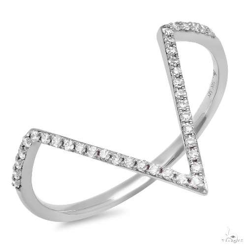 14k White Gold Diamond Ladys Ring Size 8 Anniversary/Fashion