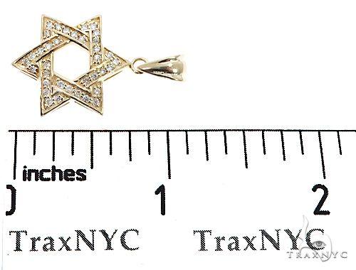 14k Yellow Gold Diamond Star of David Pendant 64649 Metal