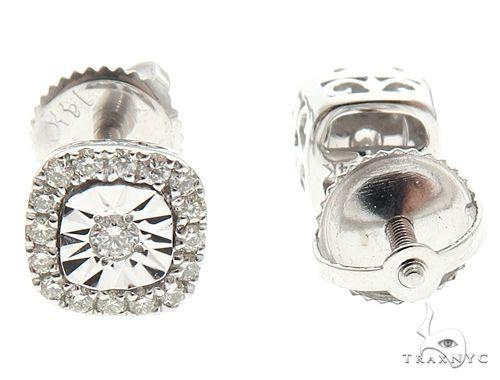 14k White Gold Diamond Stud Earrings 64900 Stone