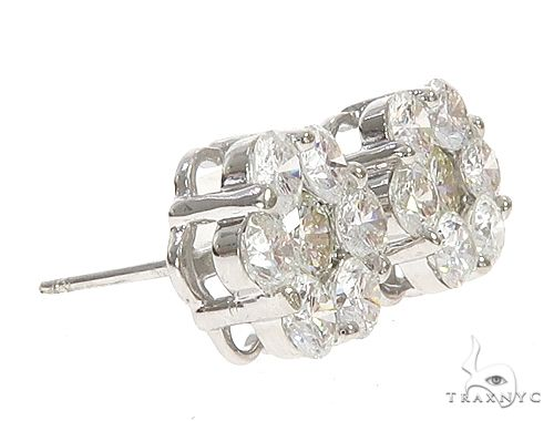 14k White Gold Diamond Stud Earrings 64944 Stone