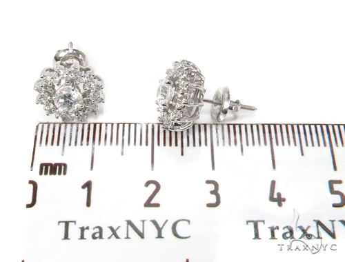 14k White Gold Prong Diamond Earrings For Women-39992 Stone