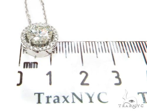 14k White Gold Pave Diamond Necklace-39991 Diamond