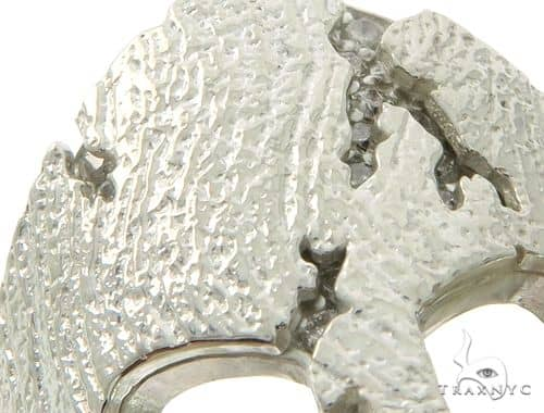 14k White Gold Spartan Mask Diamond Ring 65078 Stone