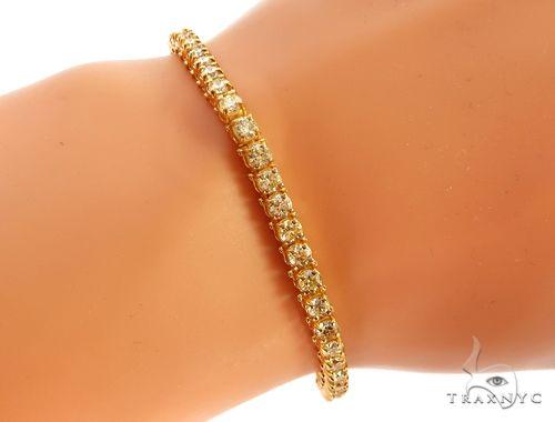 14k YG 4mm Diamond Tennis Bracelet 64875 Diamond