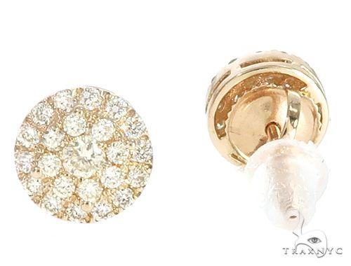 14k YG Diamond Cluster Stud Earrings 64843 Stone