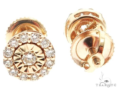14k YG Diamond Stud Earrings 64824 Stone