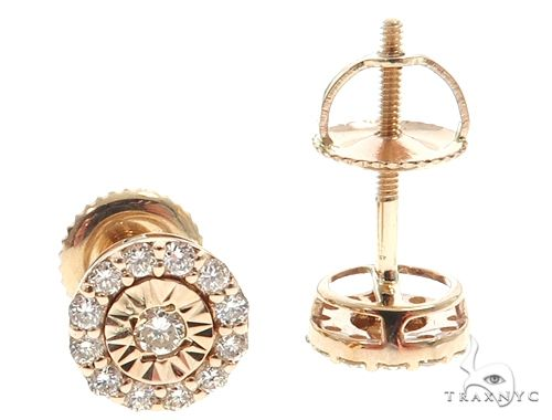 14k YG Diamond Stud Earrings 64824 Stone