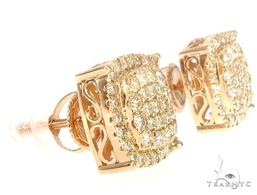 14k YG Diamond Stud Earrings 64830 Stone