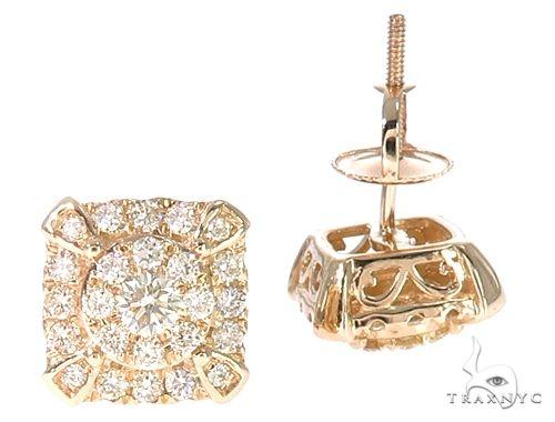 14k YG Diamond Stud Earrings 64832 Stone