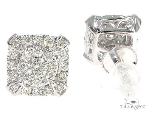 14k WG Diamond Stud Earrings 64833 Stone