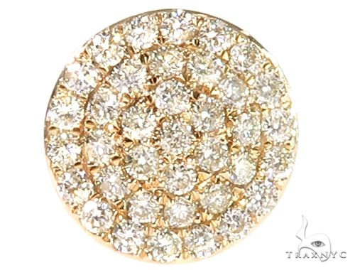14k YG Diamond Stud Earrings 64835 Stone