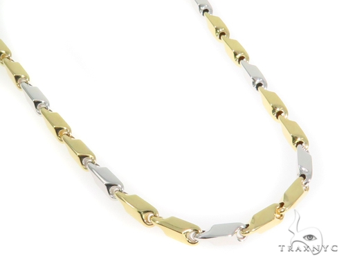 14k Yellow Bullet Gold Chain 26 Inches 4mm 32.2Grams 44351 Gold