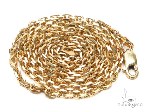 14k Yellow Cable Gold Chain 24 Inches 2mm 15.5 Grams 42396 Gold