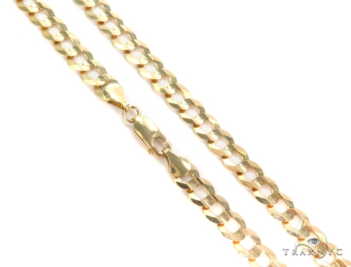 14k Yellow Cuban/Curb Gold Chain 22 Inches 7mm 25.9 Grams 44493 Gold