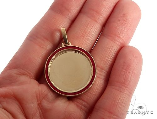 14k Yellow Gold 1 Inch Customizable Photo Pendant 65045 Style