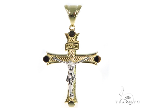 14K Yellow Gold Cross Crucifix 45434 Gold