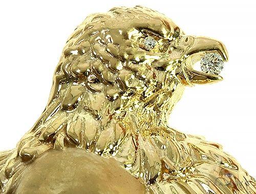 Diamond Crow Skull Face Pendant Metal