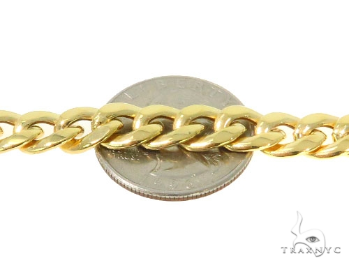 14k Yellow Gold Cuban/Curb  Chain 30 Inches 8mm 29 Grams 44381 Gold