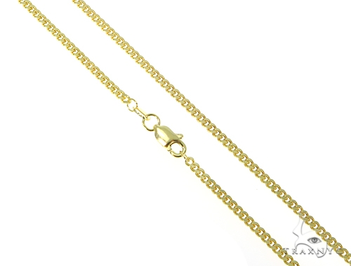 14k Yellow Gold Cuban/Curb n 22 Inches 2mm 7 Grams 44969 Gold
