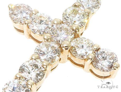 14k Yellow Gold Diamond Cross Pendant 64924 Metal