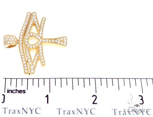 14k Yellow Gold Diamond Eye of Horus Pendant 64960 Metal