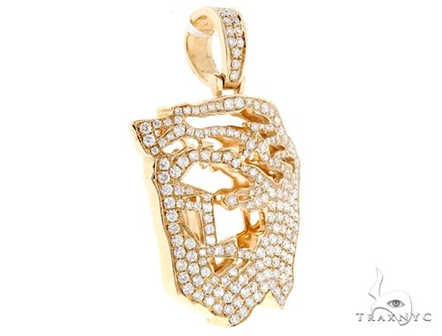 14k Yellow Gold Diamond Jesus Pendant 64946 Metal