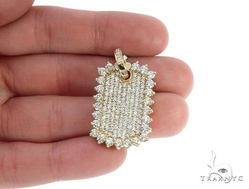 14k Yellow Gold Diamond Pendant 64956 Metal