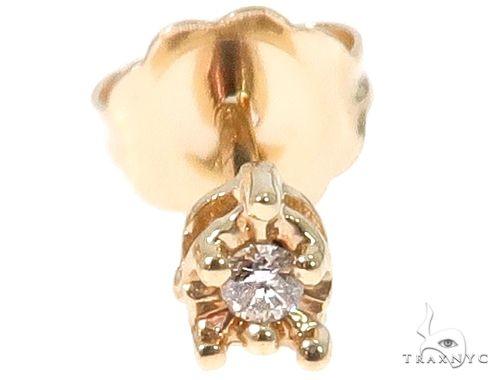 14k Yellow Gold Diamond Stud Earrings 64673 Style