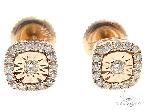 14k Yellow Gold Diamond Stud Earrings 64901 Stone