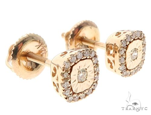 14k Gold Diamond Stud Earrings 64901 Stone