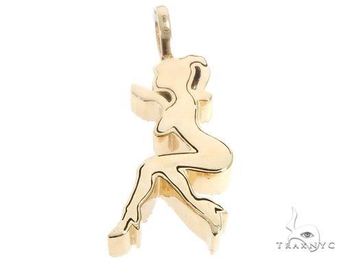 14k Yellow Gold Diamond Women's Silhouette 64691 Metal