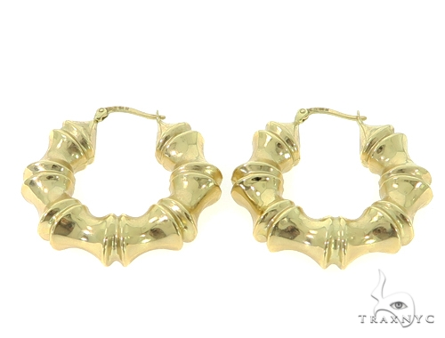 14k Yellow Gold Hoop Earrings 56805 Metal
