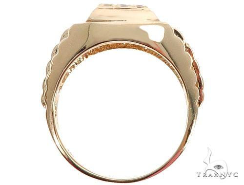14k Yellow Gold Men's Diamond Ring 64663 Stone