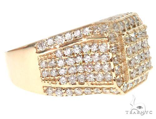 14k Yellow Gold Men's Diamond Ring 64665 Metal