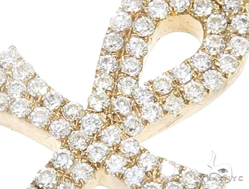 14k Yellow Gold Mini Diamond Ankh 64972 Stone
