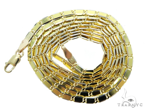 14k Yellow Gold Mirror Chain 22 Inches 2.5mm 9.30 Grams 49565 Gold