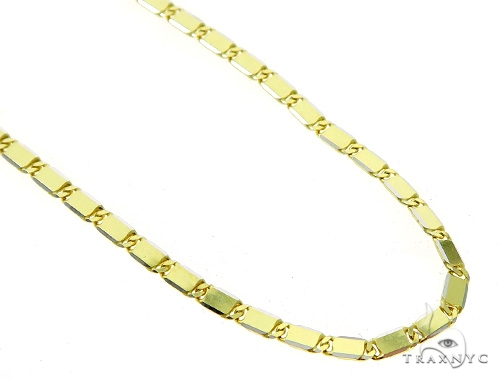 14k Yellow Gold Mirror Chain 26 Inches 2.5mm 11 Grams 49562 Gold