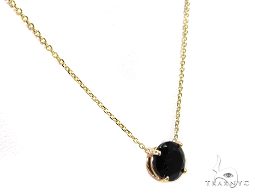 14k Yellow Gold Onyx Necklace & Earrings Set 40029 Gemstone
