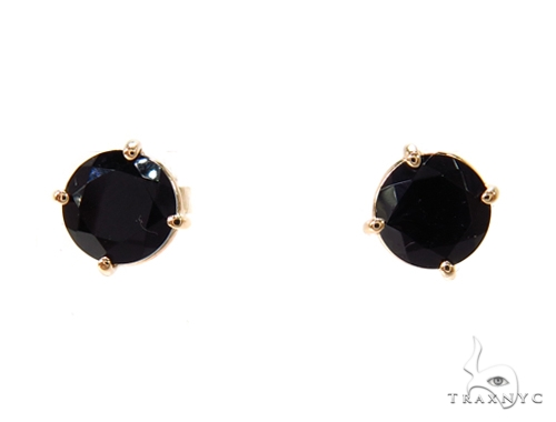 14k Yellow Gold Onyx Earrings 40026 Stone