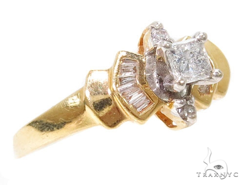 14k Yellow Gold Prong Womens Wedding Diamond Ring-40045 Engagement