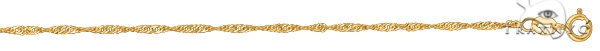 14kt 16 Inches Yellow Gold 1.5mm Diamond Cut Singapore Gold