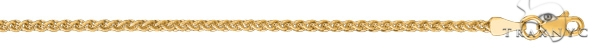 14kt 18 Inches Yellow Gold 2.1mm Shiny Round Wheat Chain Gold