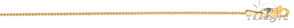 14kt 20 Inches Yellow Gold 1.0mm Shiny Round Diamond Cut Thin Franco Chain Gold