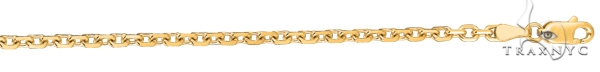 14kt 20 Inches Yellow Gold 3.1mm Diamond Cut Cable Link Chain Gold